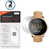 Fossil Q Wander Screen Protector BoxWave [ClearTouch Anti-Glare (2-Pack)] Anti-Fingerprint Matte Film Skin for Fossil Q Wander Marshal