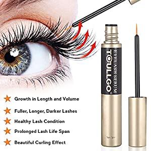 Eyelash Growth Serum, Eyelash Conditioner, Grows Longer, Fuller, Thicker, Enhancing Conditioner Treatment Boosts Regrowth Prevents Thinning Breakage and Fall Out (Color1)