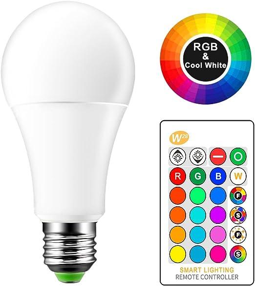Dimmable bunte Birne E27 RGB LED 5W 10W 15W Licht Lampe IR-Controller