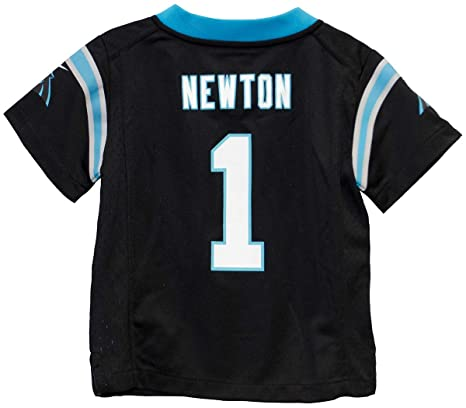 on sale b854e a6517 Nike Cam Newton Carolina Panthers Preschool Black Game Jersey