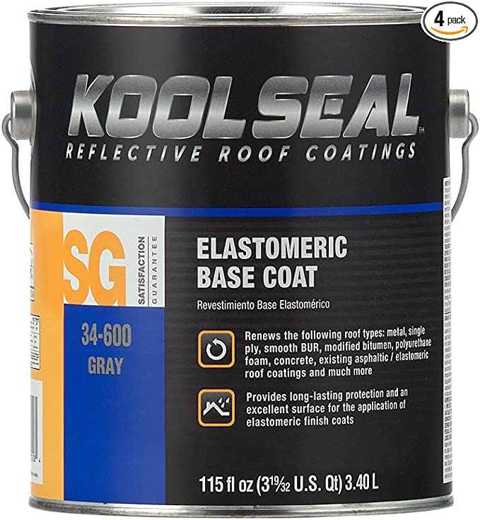 Kool Seal KS0034600-16 KS0034600-16Kool Seal Elastomeric Gray Base Roof Coating