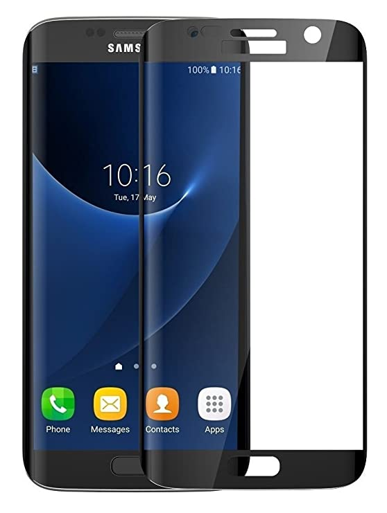 SHOPKART Tempered Glass for Samsung Galaxy S7 Edge  Black  Screen guards