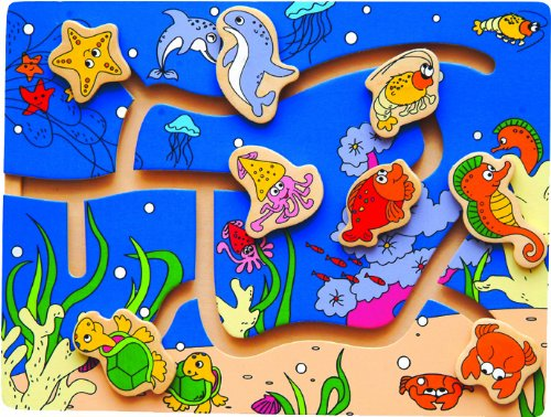 Maze Puzzle - Ocean Life (Sea Life Slide)