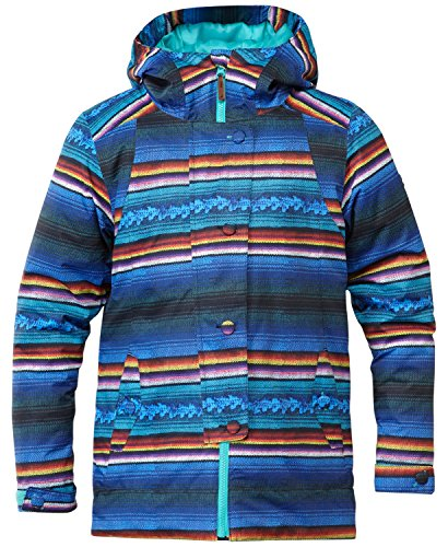 DC Apparel Big Girls' Data K 15 Snow Jacket, Peruvian Stripes, 12 by DC Apparel