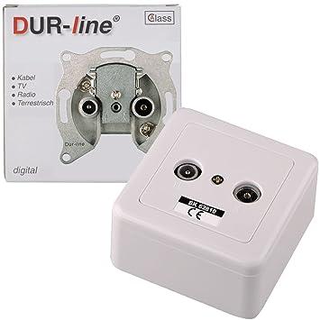 Fabulous DUR-line 62810 Antennendose BK 10dB 2-Loch-Dose komplett mit UU98