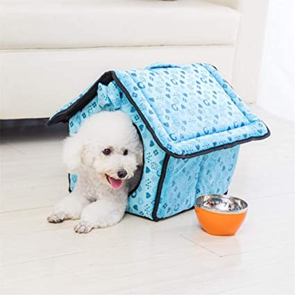 MAN Perro Casa Nido Kennel Four Seasons Universal Pet Nest,Blue