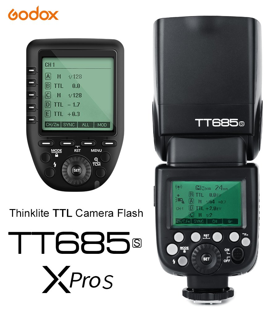 Godox TT685S 2.4G HSS TTL GN60 Flash Speedlite+ Xpro-S Trigger Transmitter Kit Compatible for Sony A58 A7RII A7II A99 A9 A7R A6300 by Godox (Image #2)