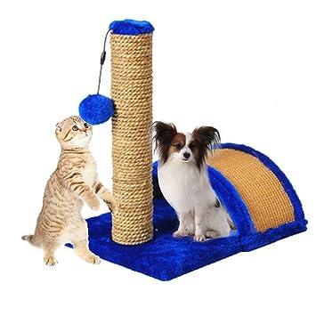 xianjun Cat Escalada Marco Mascota Cama Gato Árbol Gato Árbol Sisal Rasguño Post Juguete Tablero del rasguño Adecuado para Perros pequeños y Gatos: ...