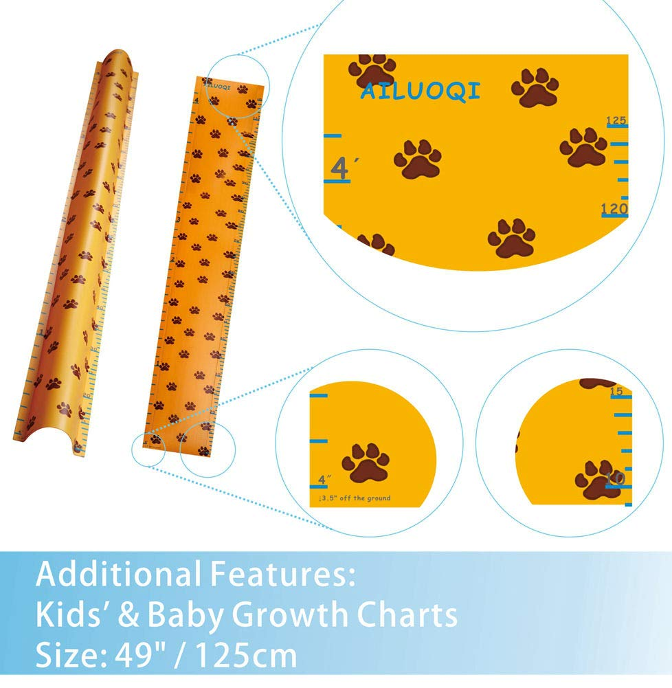 Hinge Cover Pinch Guard for 90 /& 180 Degree Doors Frame /& Baby Gate AILUOQI Door Jam Shield Finger Pinch Guard for Baby Proofing 47.2H Height Growth Chart 6.7W Kids