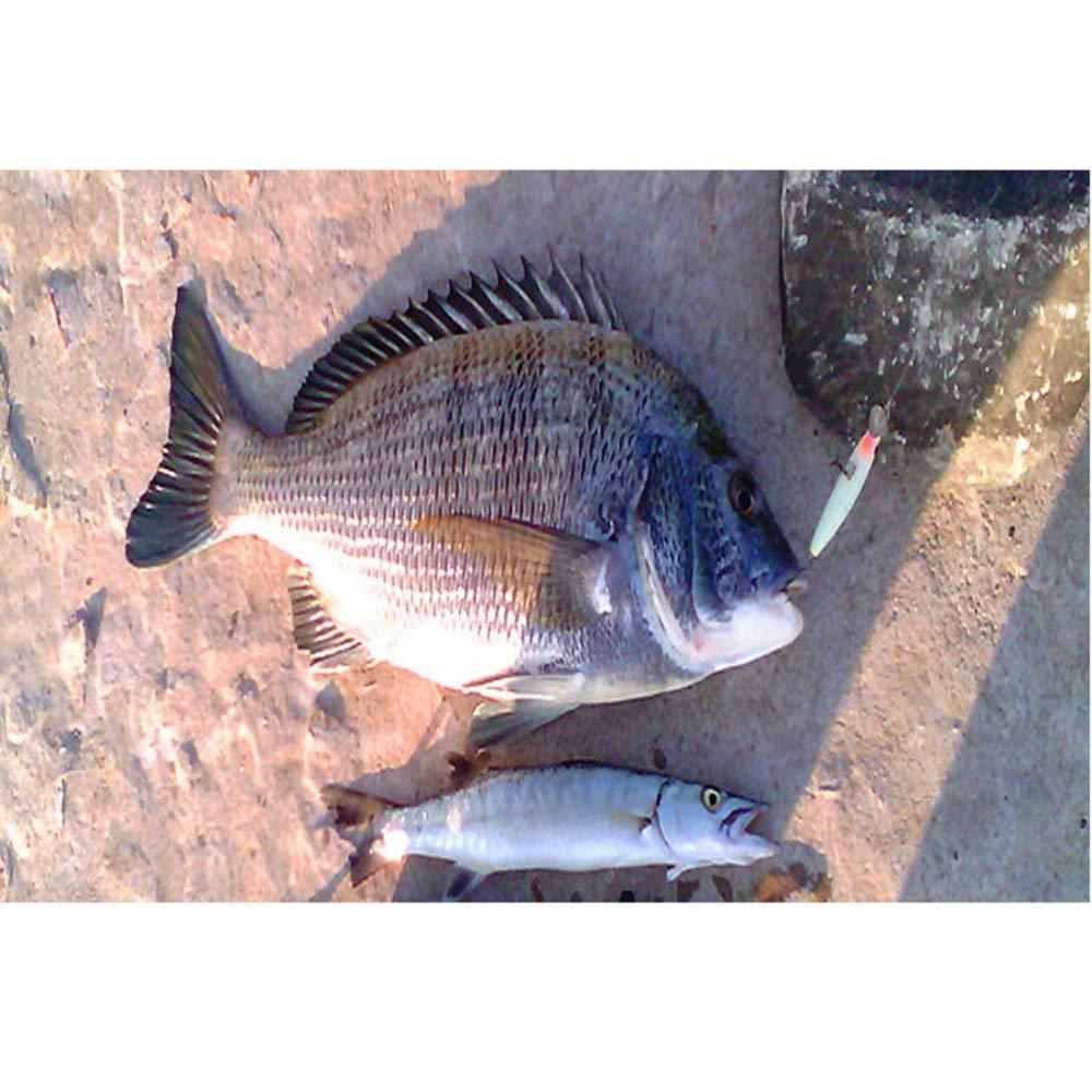 uu19ee 3D Luminous Night Fishing Minnow Se/ñuelo Isca Cebo de Pesca Artificial 82mm 8g Minnow Se/ñuelos de Pesca Tackle con 2 Ganchos