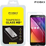 """FOSO(™) Asus Zenfone 2 / Zenfone 2 Laser (5.5"""" inch) Round Curved 2.5D Edge 9H Hardness Toughened Tempered Glass Screen Guard Protector"""