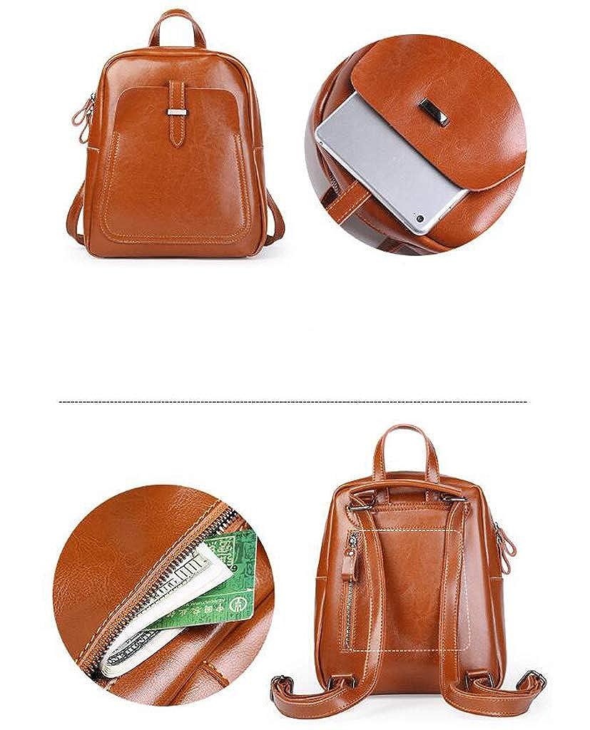 BAOBAOG Leather Ladies Backpack Retro Dual-use Backpack Simple Temperament Bag
