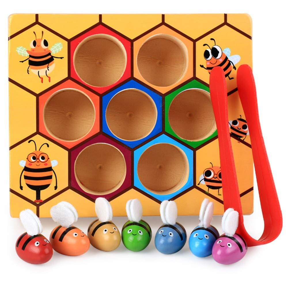 NEEDOON Bee Hive Wooden Educational Toys,Fun Kids Bee Toy Children Early Education by NEEDOON