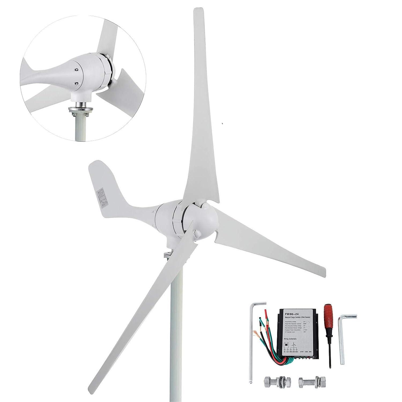 Happybuy Wind Turbine Generator 600W DC 24V Wind Turbine 3 Blade Low on