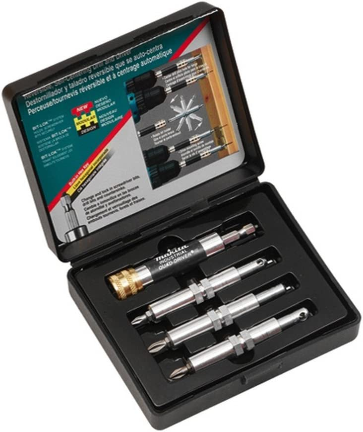 Makita 784827-A Quad-Driver 4-Piece Reversible and Self-Centering Pre-Drill Discontinued by Manufacturer Drive and Countersink Set