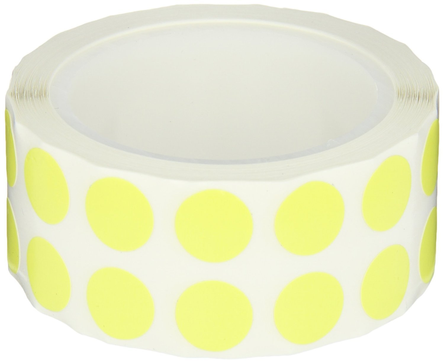 1000 per Package Yellow 1//2 Inch Diameter for 1.5-2.0ml Tubes Tough-Spots