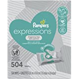 Pampers Multi-Use Wet Wipes, Expressions Face Wipes, Fragrance Free Baby Wipes 9X Pop-Top, Hypoallergenic and Dermatologist-T