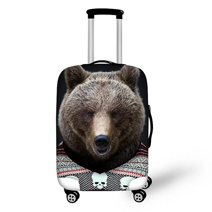 586f876155a6 FOR U DESIGNS 18-22 Inch Small Cute Bear Print Spandex Travel Luggage Cover  Trolley