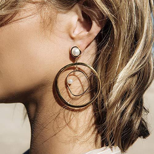 Longay Fashion Women Bohemia Hollow Earrings Metal Alloy Vintage Geometric Hollow Out
