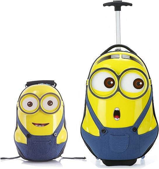 cc98b178e170 Amazon.com | MOREFUN Minion 20'' Kids Carry on Luggage and 16 ...