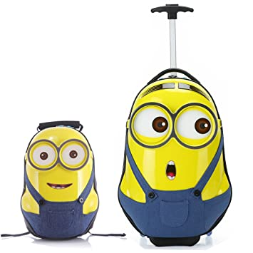 Amazon.com: Morefun Minion - Maleta de viaje para niños de ...