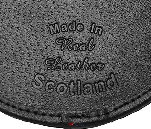 Tassels Soft Leather 3 Sporran Black Celtic Dress Arch na4wII
