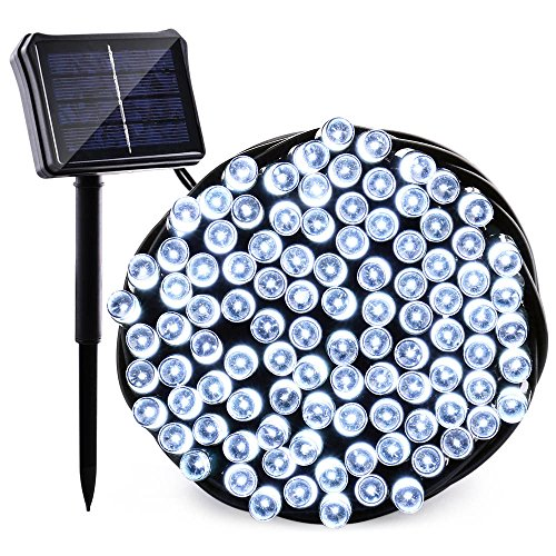 Qedertek Solar   Battery String Lights  72Ft 200 Led Dual Power Fairy String Lights For Home  Garden  Patio  Holiday  Wedding And Christmas Tree Decorations  White