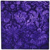 3dRose LLC 8 x 8 x 0.25 Inches Decorative Vintage Floral Wallpaper Mouse Pad, Purple (mp_32491_1)