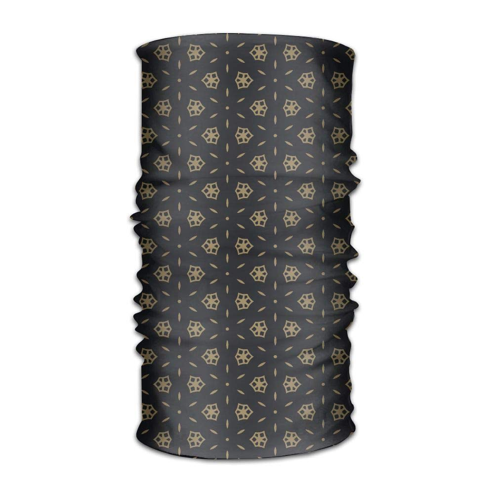 Cute Black and Gold Pattern Unisex Fashion Quick-Drying Microfiber Headdress Outdoor Magic Scarf Neck Neck Scarf Hooded Scarf Super Soft Handle