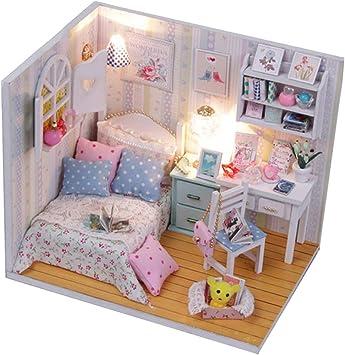 Camera Matrimoniale In Regalo.1 24 Dollhouse Miniature Doll House Kits Camera Da Letto Life