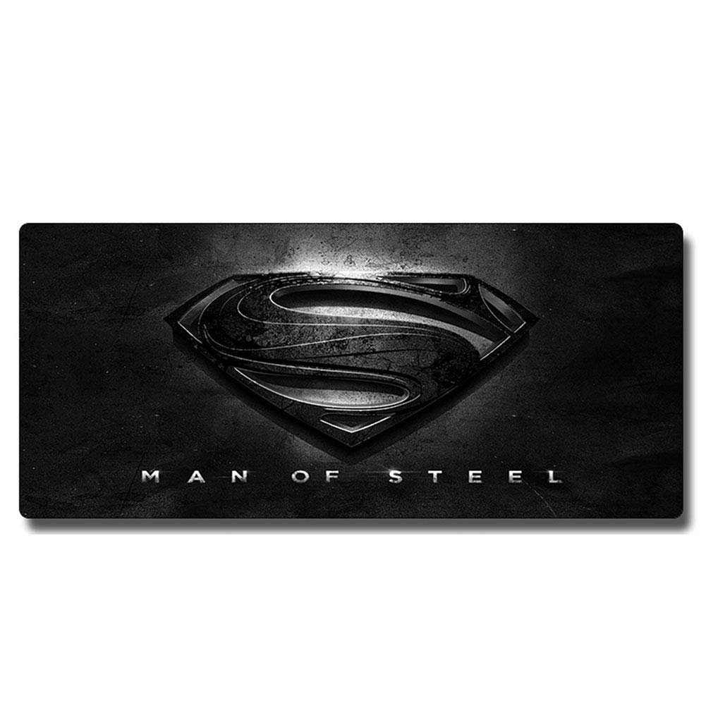 QOGER Oversized Animation Game Mouse pad, Thick Keyboard pad, Non-Slip Lock pad, Evil Spirit Knight/Iron Man/Batman/Superman/Spiderman, Cartoon Anime Game characters-17-80x30cm by QOGER