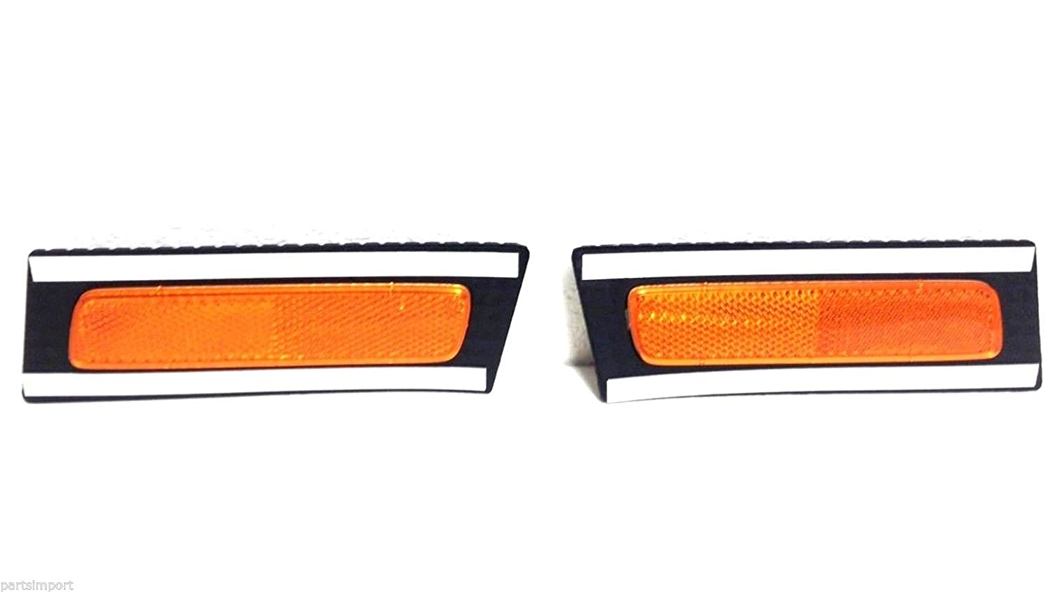 Audi A4 S4 Set of 2 Front (Left + Right) OEM Bumper Cover Reflectors Lights New OEM (FER)