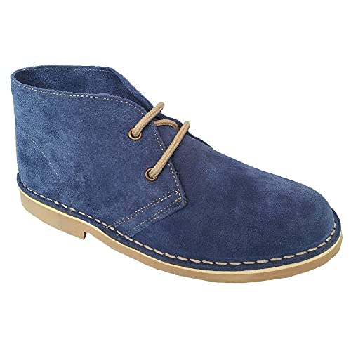 Roamer Macie Ladies Suede Leather Desert Boots Blue  Amazon.co.uk ... 94482ba6a