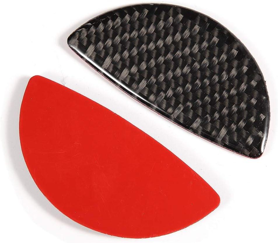 2pcs Carbon Fiber Car Interior Door Handle Cover Sticker Trim Fit For R55//R56//R60 Door Handle Cover