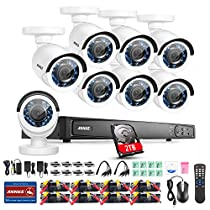 Annke 16CH 1080P Security Camera System with 2TB Hard Drive and (8) HD 2.0MP 1920TVL In/Outdoor Fixed CCTV Cameras, IP66 Weatherproof Metal Housing, Smart Motion Detection and Email Alert