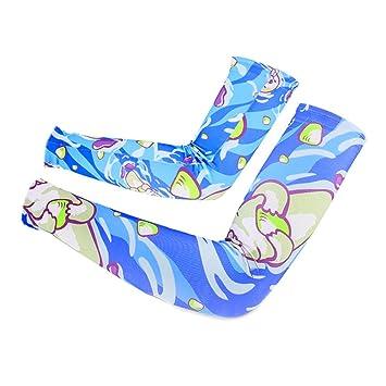 ENCOCO Mangas de protección UV para hombre y mujer, impresión digital, calentadores de brazo
