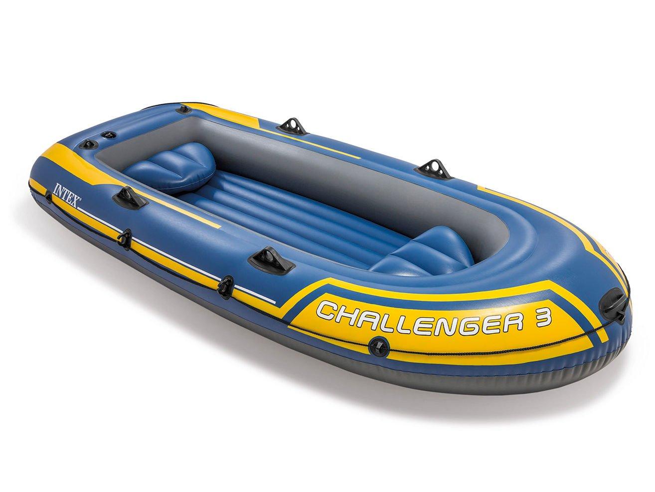 Intex - Barca hinchable Challenger 2 & remos - 236 x 114 x 41 cm (68367) (modelo variable según imagen) 68367EP