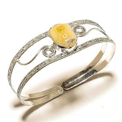 amazon com online jewelry yellow solar druzy sterling silver