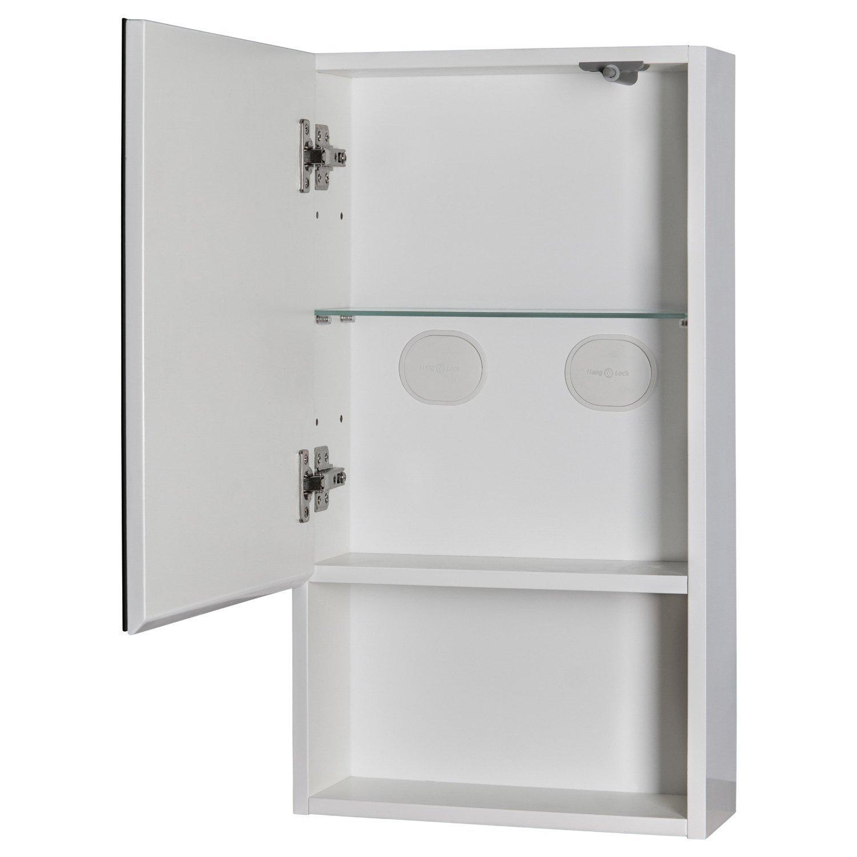 Habitat Miya White Gloss Small Wall Mounted Bathroom Cabinet Mirror ...