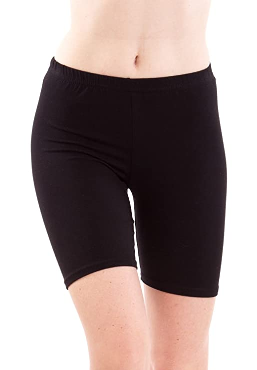Fashion Line Women's Cotton Lycra Cycling Shorts Women's Sports Shorts at amazon