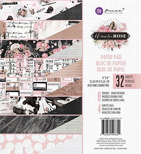 Prima Marketing Amelia Rose-6x6 Paper Pad