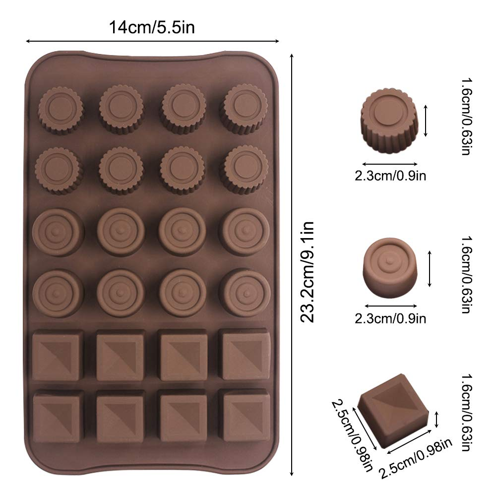 Amazon.com: 4 Pcs Silicone Chocolate Molds, Non-Stick Break-Apart Protein and Energy Bar, Ice Cube Tray Candy Mold Kitchen Baking Mould: Kitchen & Dining
