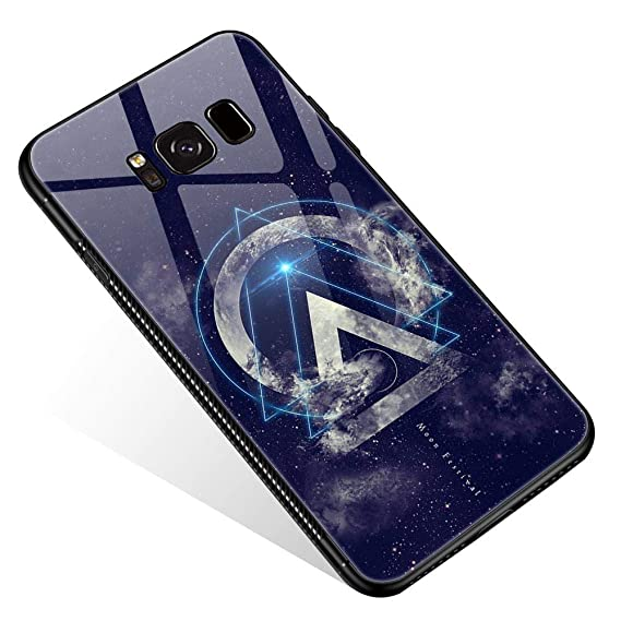 Samsung Galaxy S8 Case, Beautiful Chaos Hipster Triangle Cool Pattern  Design Tempered Glass Back Printing Bumper Frame Shockproof Anti-Scratch  Cover