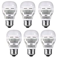 SANSI 8W 5000K Daylight 800lm A15 LED Bulbs 6-Pack Deals