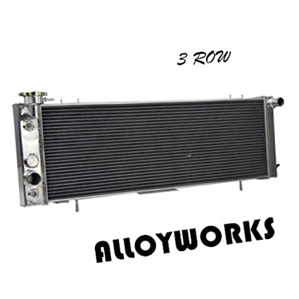 amazon com: alloyworks 3 row aluminum radiator for 1991-2001 jeep cherokee  xj / 1991-1992 jeep comanche: automotive
