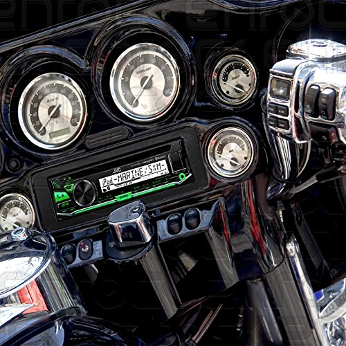 Weathershield Cover 1998 2013 Harley Davidson Touring Flht Flhx Flhtc JVC Stereo CD Receiver Marine Radio Bundle Enrock Wire Antenna Adapter Dash Kit Handle Bar Control Module