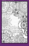 Coloring Journal (purple): Therapeutic journal for writing, journaling, and note-taking with coloring designs for inner peace, calm, and focus (100 … and stress-relief while writing.) (Volume 9)