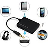 Colorful_Wireless Bluetooth Adapter Receiver, Wireless Bluetooth 4,0 Audio Stereo Musik Empfänger 3,5 mm Auto Aux Adapter A2DP