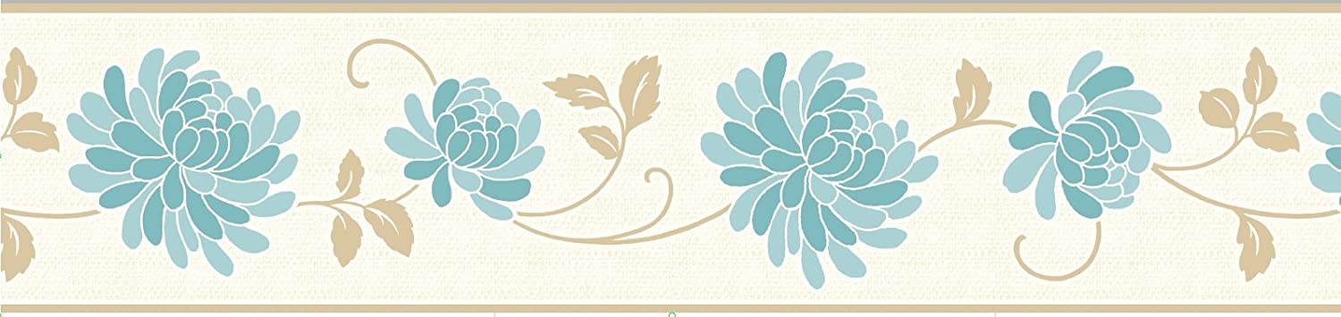 Fine Decor 125 mm Celina Border, Teal FDB07518S