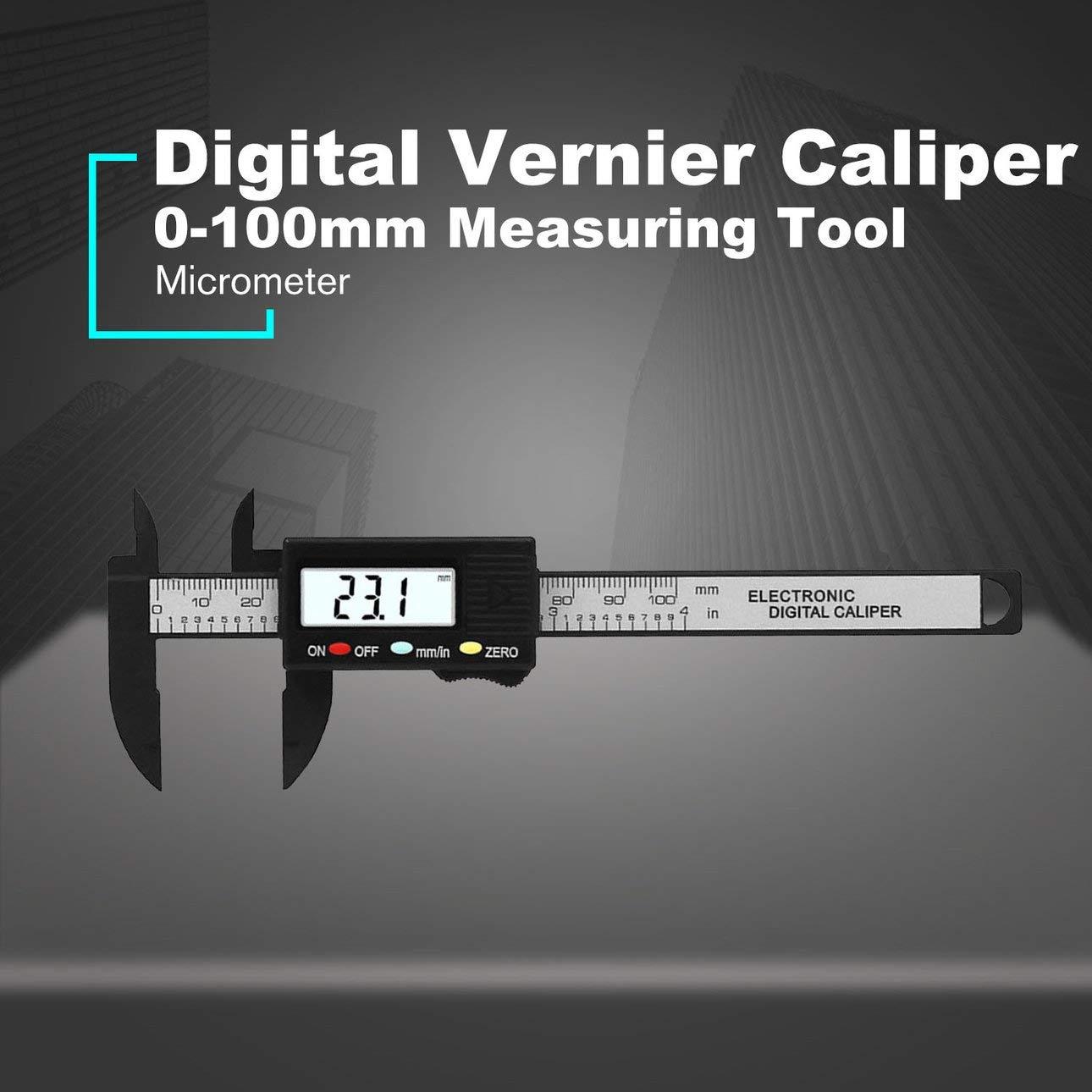Ballylelly Mini Elektronische Digitale Messschieber 0-100mm Messwerkzeug Digitale Messschieber Mikrometer f/ür schmuck messung